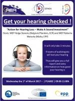 Get your hearing checked at the European Parliament!