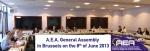 A.E.A. General Assembly in Brussels on the 8th of June 2013